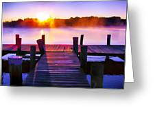 Sunup Over Rock Creek Greeting Card