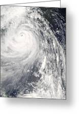 Super Typhoon Wipha Greeting Card
