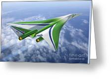 Supersonic Aircraft Design Greeting Card
