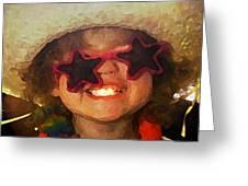 Superstar Greeting Card by Gina Barkley