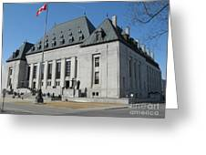 Supreme Court Of Canada Greeting Card