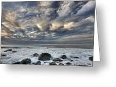 Surf At Gillespies Beach Near Fox Greeting Card