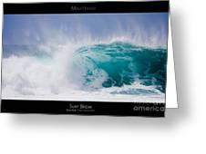 Surf Break - Maui Hawaii Posters Series Greeting Card by Denis Dore