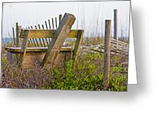 Surf City Chair Greeting Card