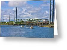 Surf City Swing Bridge Greeting Card