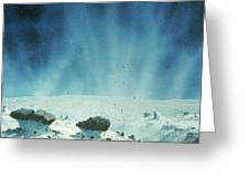 Surface Of A Comets Nucleus Greeting Card