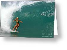 Surfer Girl Greeting Card by Paul Topp