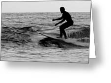 Surfer Going With The Flow Greeting Card