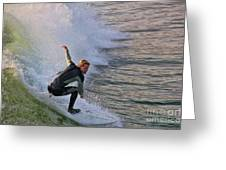 Surfin' The Wave Greeting Card