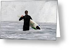 Surfing 397 Greeting Card by Joyce StJames