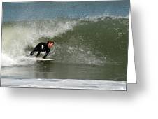 Surfing 398 Greeting Card