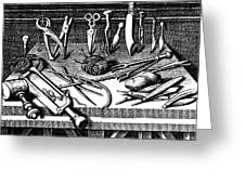 Surgical Equipment, 16th Century Greeting Card