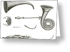 Surgical Instruments, 18th Century Greeting Card