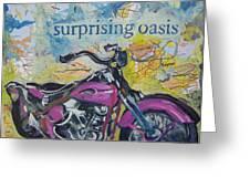 Surprising Oasis Greeting Card