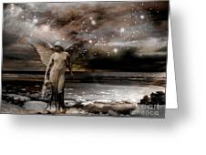 Surreal Fantasy Celestial Angel With Stars Greeting Card