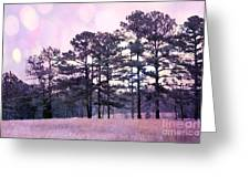 Surreal Fantasy Nature Purple Trees Landscape Greeting Card