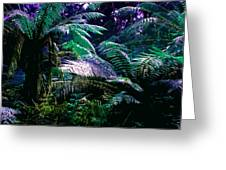 Surreal Tropical Forest Drawing Illustrated Scene Greeting Card