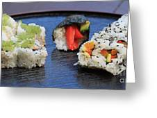 Sushi California Roll Greeting Card
