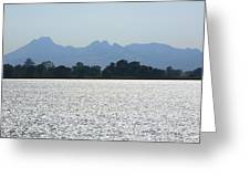 Sutter Buttes And Flooded Rice Field Greeting Card