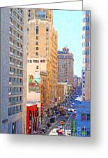 Sutter Street San Francisco Greeting Card