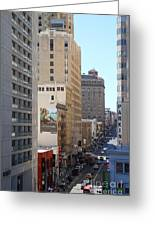 Sutter Street West View Greeting Card by Wingsdomain Art and Photography