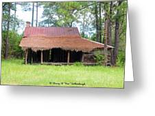 Swamp House Or Cracker Cabin Greeting Card