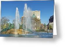 Swann Fountain At Logan's Circle Greeting Card