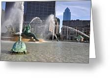 Swann Memorial Fountain In Philadelphia Greeting Card