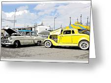 Swap Meet Plymouth And Chevy  Greeting Card