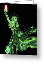 Sweat Liberty Greeting Card