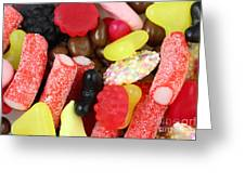 Sweets And Candy Mix Greeting Card