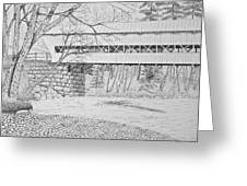 Swift River Bridge Greeting Card by Tim Murray