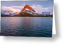 Swiftcurrent Lake At Dawn Greeting Card