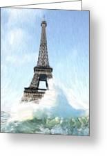 Swimming Pleasure In Paris Greeting Card