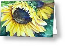 Swingin' Sunflowers Greeting Card