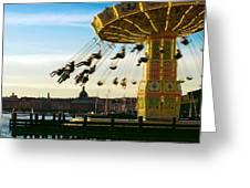 Swings At Sunset Greeting Card