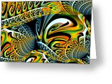 Swirling Colors Greeting Card