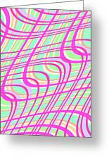 Swirly Check Greeting Card