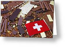Swiss Chocolate Greeting Card by Joana Kruse