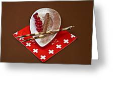 Swiss Chocolate Praline Greeting Card by Joana Kruse