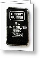 Swiss Silver Bar Greeting Card