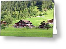 Swiss Village In The Alps Greeting Card