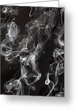 Swriling Smoke  Greeting Card
