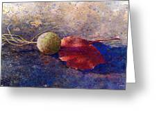 Sycamore Ball And Leaf Greeting Card