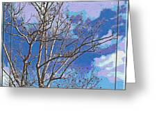 Sycamore Tree Branch Art Greeting Card