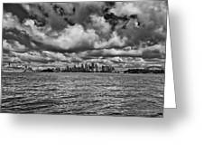 Sydney-black And White Greeting Card