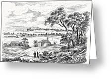Sydney Cove, Australia, Circa 1790 Greeting Card