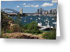 Sydney From Blues Point Greeting Card