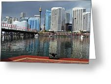 Sydney From Darling Harbour Greeting Card
