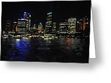 Sydney Harbour Skyline Greeting Card by Jacques Van Niekerk